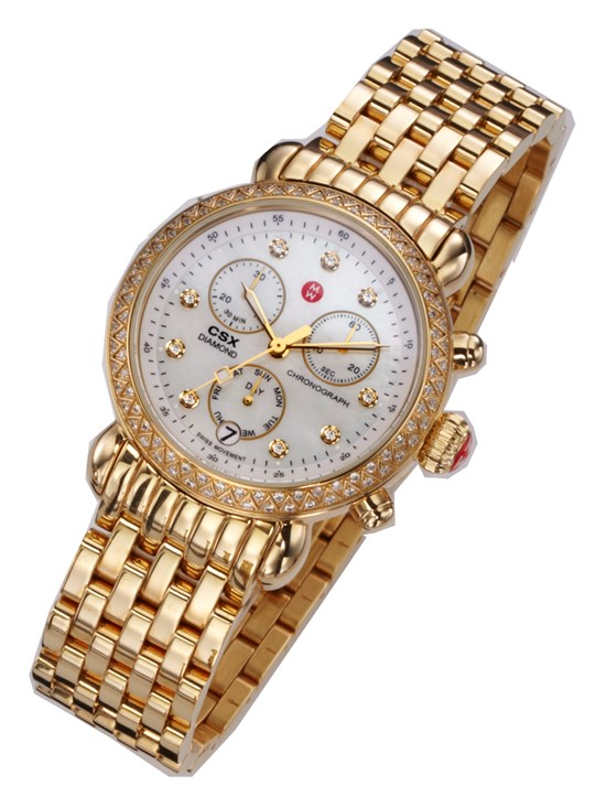 csx-36 gold, diamond dial watch
