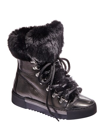 hightop faux fur sneaker