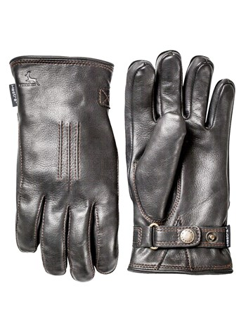 men's deerskin lamb glove black