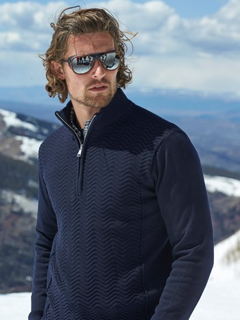 linard half zip ski sweater