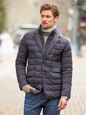 la giacca down quilted blazer