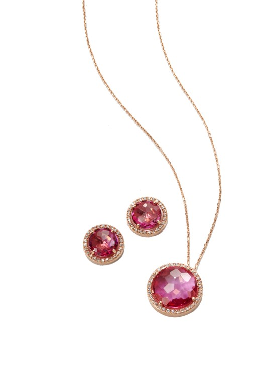 cheryl pink topaz necklace