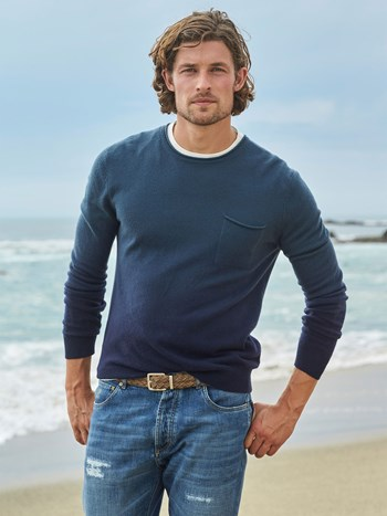 nate degrade cashmere roll sweater