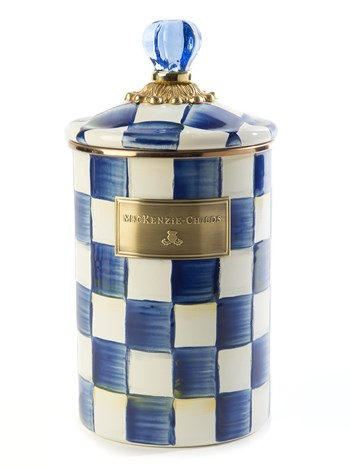 royal check canister large