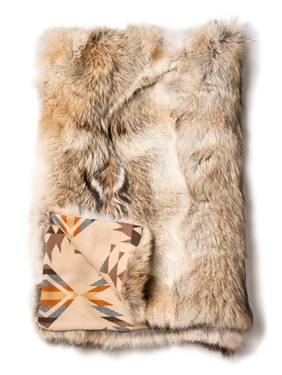 coyote fur throw