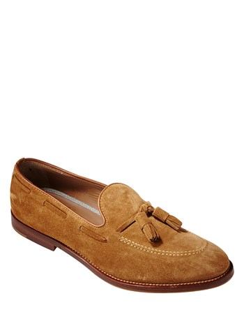 leather suede tassel dress shoe