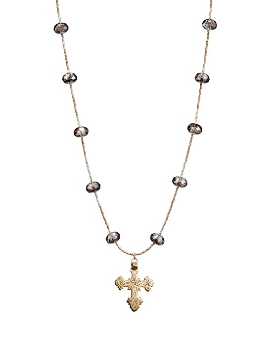 Milly crystal necklace with cross pendant gorsuch aloadofball Choice Image