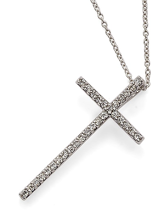 anelie large cross necklace