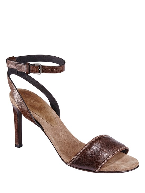 leather ankle heel