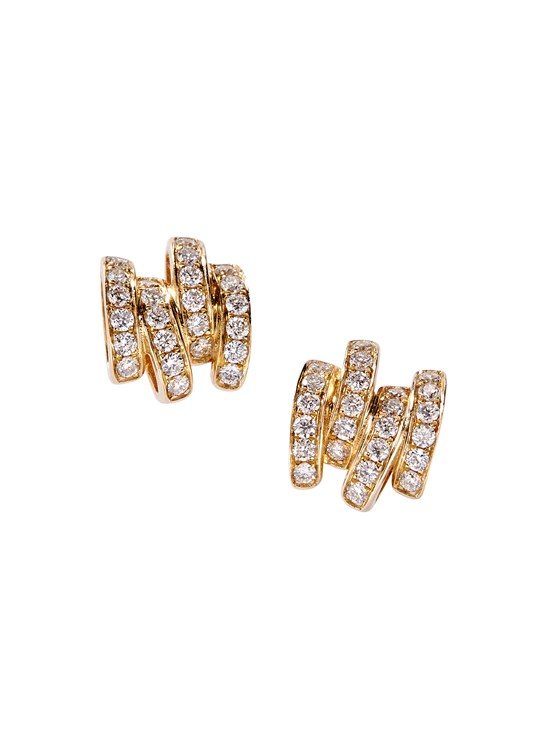 diamond line stud earring