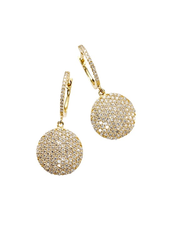 diamond disc earring