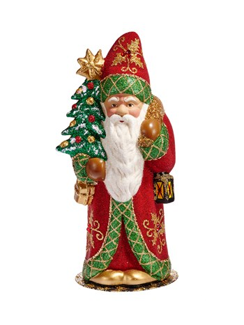 gold and green santa