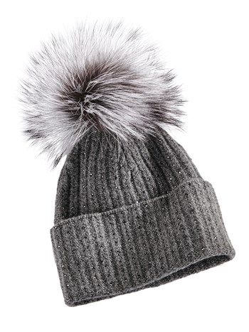luxe cashmere knit hat