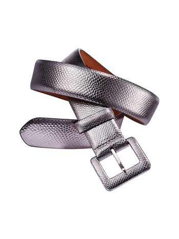 milly metallic snakeskin belt