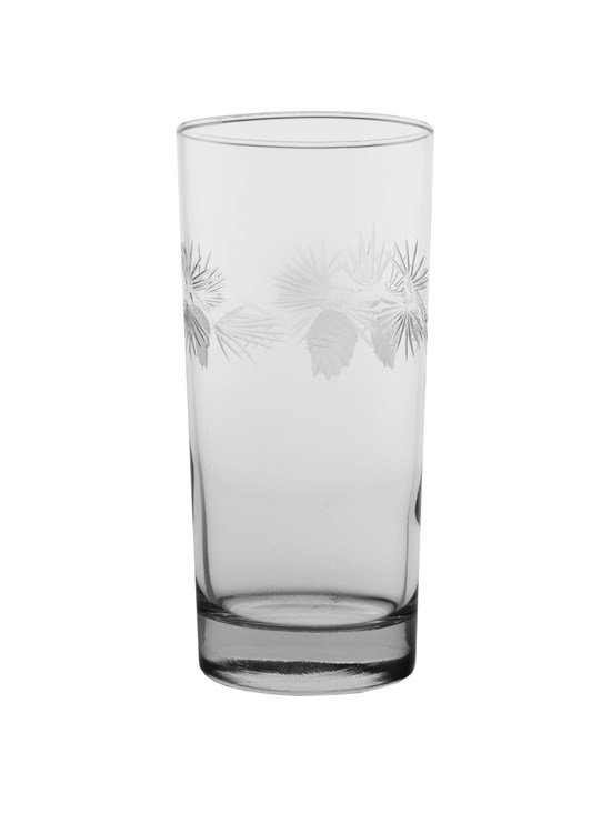 pine cone highball glass
