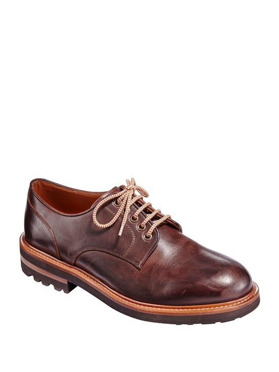 leather derby dress shoe