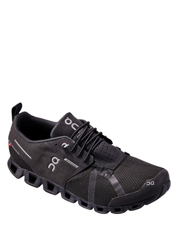 cloud waterproof black running shoe
