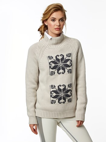 vail jacquard cashmere turtleneck ski sweater