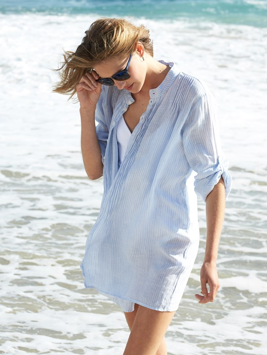 marnita stripe linen shirt
