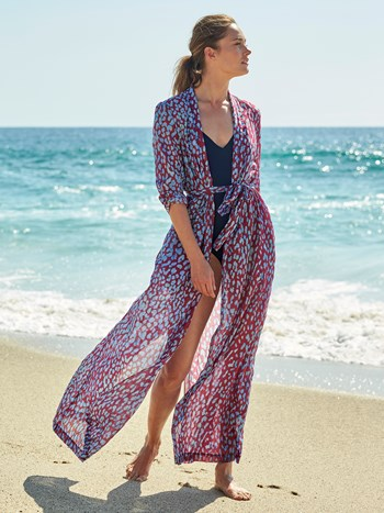 tamja leo cotton voile robe cover up