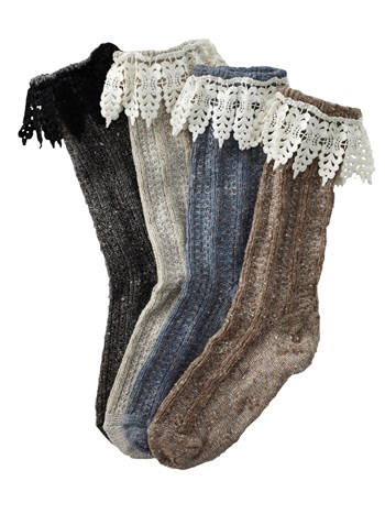 mountain lace heather sock