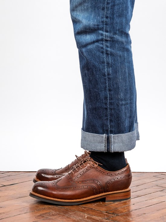 leather stanley wingtip dress shoe
