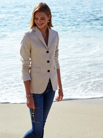 mabel cotton stretch blazer