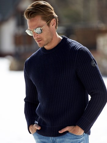 gallaway rib knit ski sweater