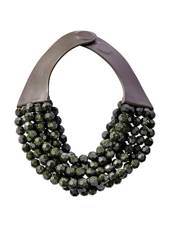 bella marble olive necklace