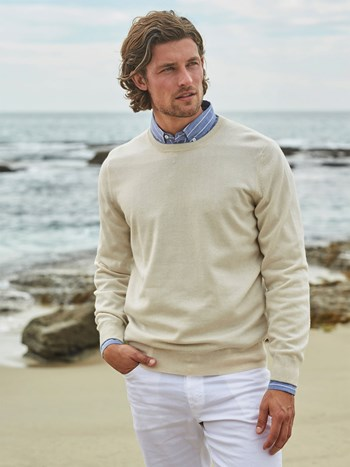 cashmere 2 Ply crewneck sweater