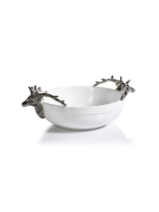 ceramic stag bowl medium
