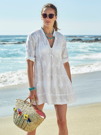 brynn embroidered linen shirt