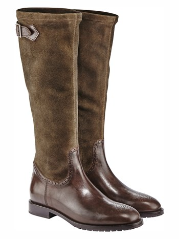nevada suede riding boot