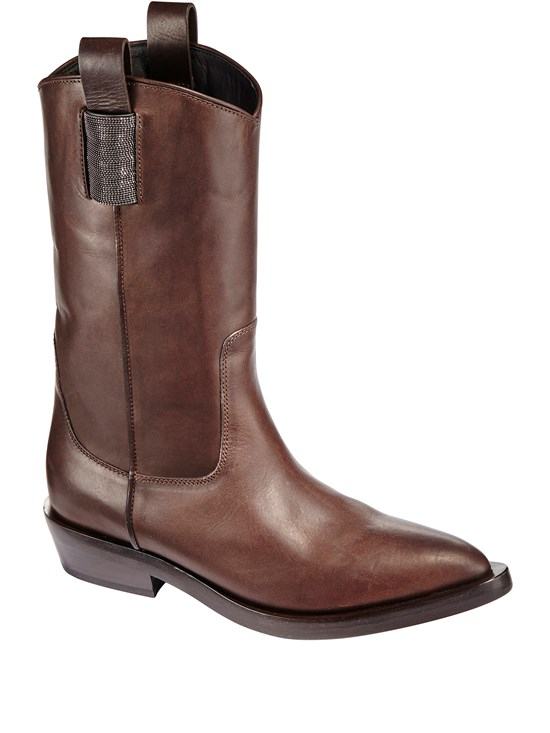leather monili western boot