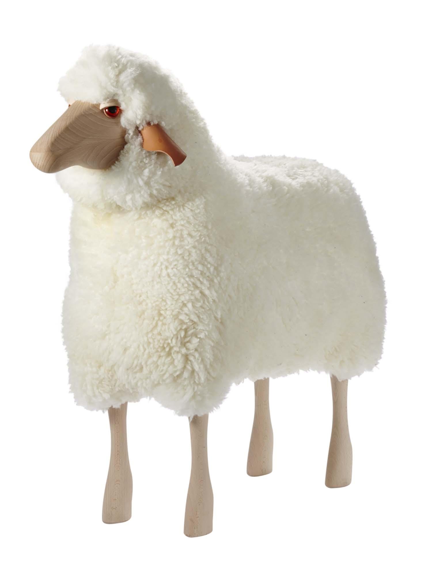 Sheep Stool Large White