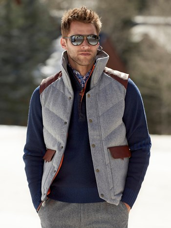 alpine down hooded vest