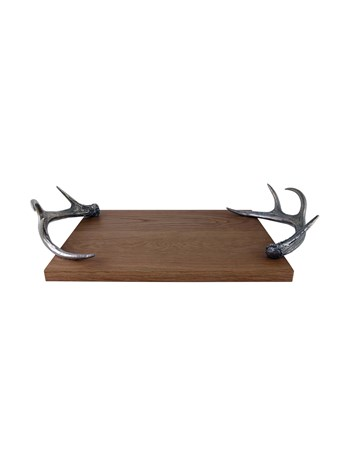 antler wood serving tray
