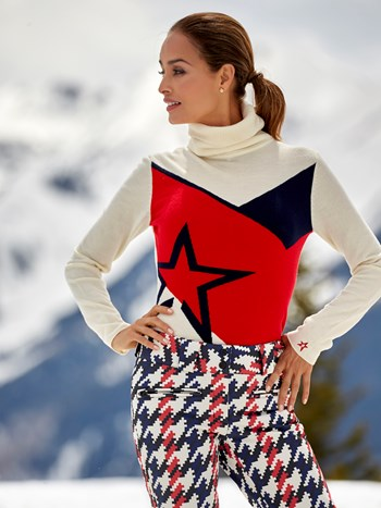 super day star turtleneck ski sweater