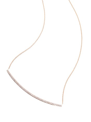 diamond bar yellow gold necklace