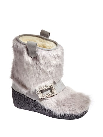 maura faux fur boot