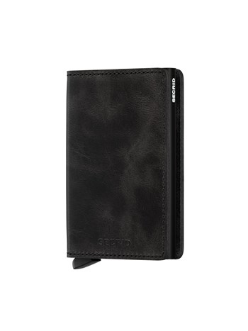 slim wallet vintage black