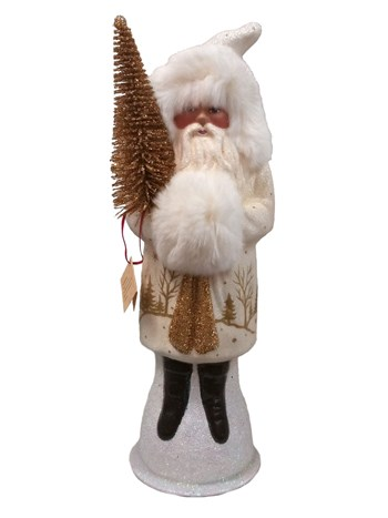 santa with fur white