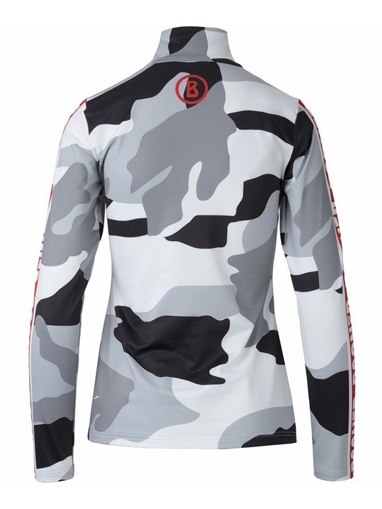 beline camo quarter zip turtleneck