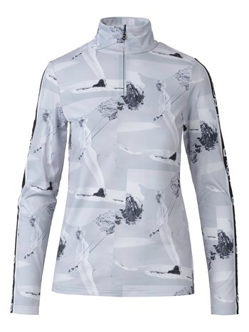 beline print quarter zip turtleneck