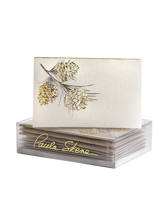 white pine cone enclosure card set