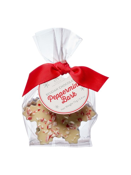 peppermint bark snowflake bag