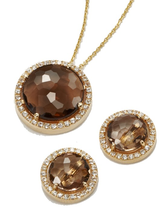 bea smoky quartz necklace