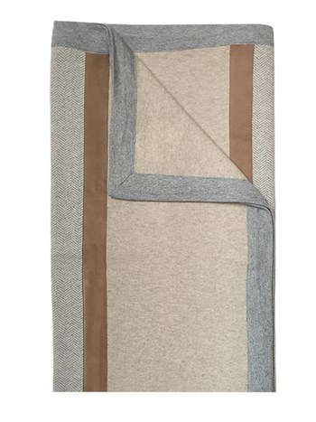 london cashmere suede throw