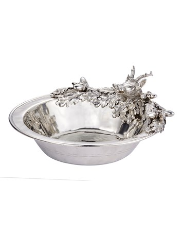 pewter stag salad bowl