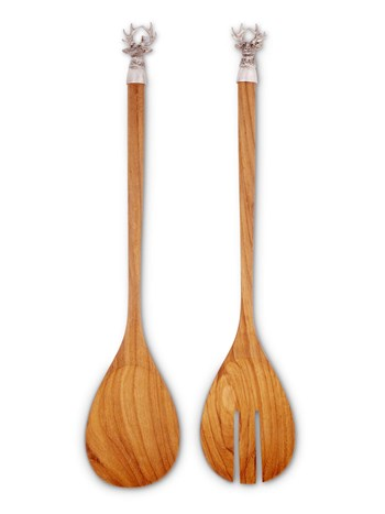 stag salad server set